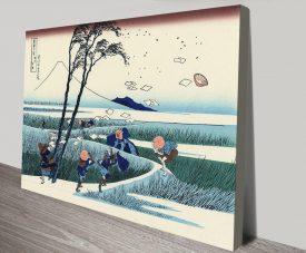Ejiri in the Suruga Province Print on Canvas