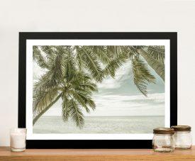 Florida Vintage Ocean ViewFramed Print