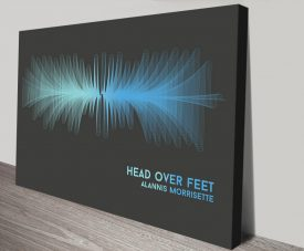 Head Over Feet Soundwave Canvas Art