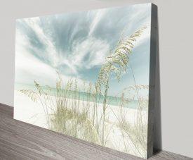 Heavenly Calmness on the Beach Print on Canvas