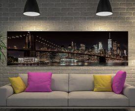 Manhattan Skyline & Brooklyn Bridge Print