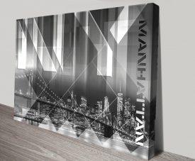 Brooklyn Bridge & Skyline by Melanie Viola