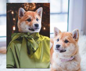 Custom Fashionista Canvas Pet Portrait