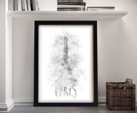 Framed Paris Black & White Painting Print