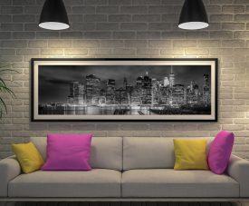 NYC Monochrome Panoramic Artwork