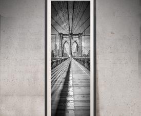 NYC Brooklyn Bridge Upright Monochrome Art