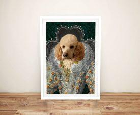 Queen Elizabeth Wall Art Custom Pet Prints AU
