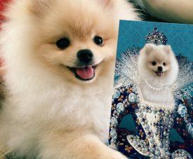 The Queen Personalised Pet Portrait Artwork
