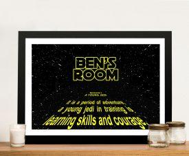 Framed Personalised Stars Wars Kids Print
