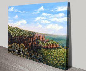 Towards Echo Point Blue Mountains Wall Art