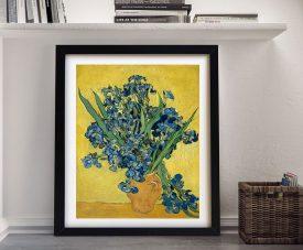 Buy a Framed Vase with Irises Still Life Print