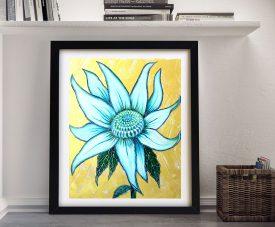 Buy a Framed White Waratah Canvas Print