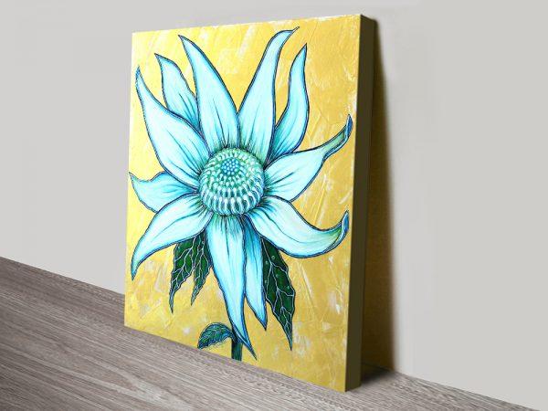 Stretched Canvas Australian Floral Artwork