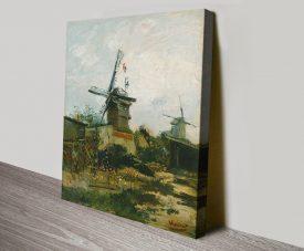 Windmills on Montmartre Classic Wall Art