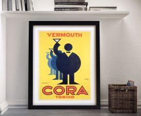 Cora Vermouth Torina Vintage Poster Print