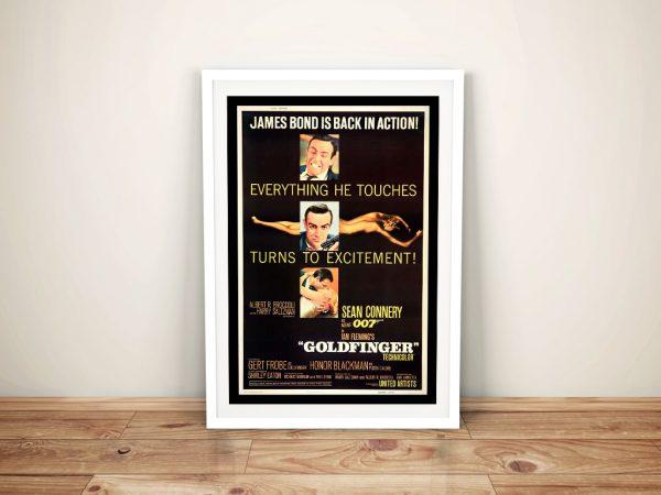 Framed James Bond Movie Posters for Sale AU