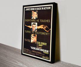James Bond Goldfinger Film Poster on Canvas