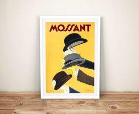 Framed Vintage Mossant Hat Poster Print