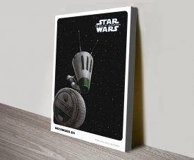 The Rise of Skywalker D-O Poster on Canvas