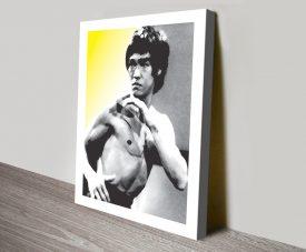 Buy Bruce Lee Pop Art Stretched Canvas Art