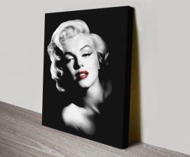 Buy Marilyn Red Lips Portrait Print
