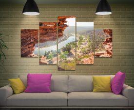 Natures Window 5-Piece Print on Canvas
