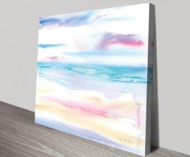 Pastel Morning Coastal Artwork on CanvasPastel Morning Coastal Artwork on Canvas