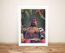 Serenity Framed Buddha Print on Canvas