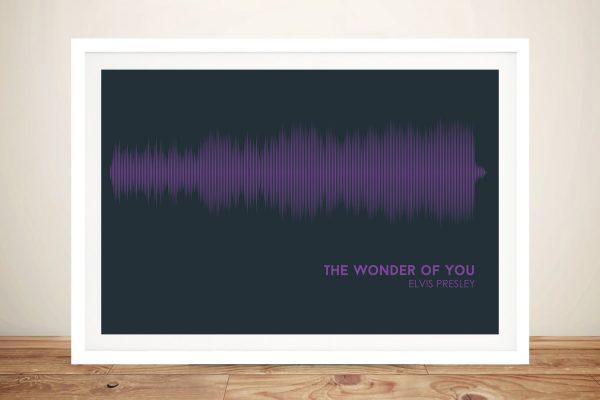 Framed Elvis Presley Soundwave Art for Sale