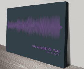 Elvis Presley Linear Soundwave on Canvas