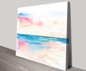 Vivid Coast Watercolour Print on Canvas