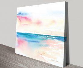 Vivid Coast Watercolour Print on Canvas
