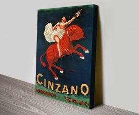 Cinzano Vermouth Cappiello Vintage Poster