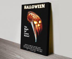 Halloween Vintage Movie Poster on Canvas