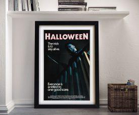 Framed Halloween Michael Myers Poster