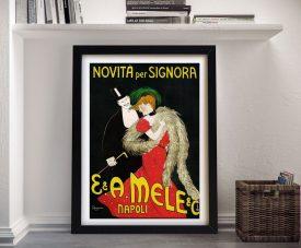 Framed Leonetto Cappiello Mele Poster Print