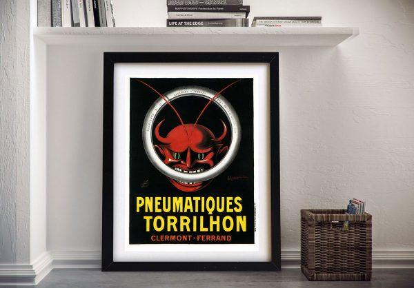 Pneus Tyres Red DevilFramed Poster