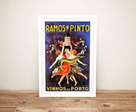 Framed Ramos Pinto Advertising Poster