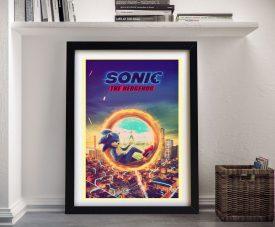 Framed Sonic the Hedgehog Movie Poster