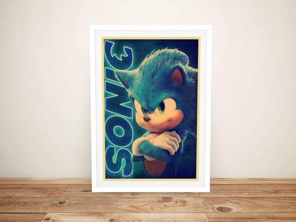 Framed Sonic Poster Affordable Gifts Online