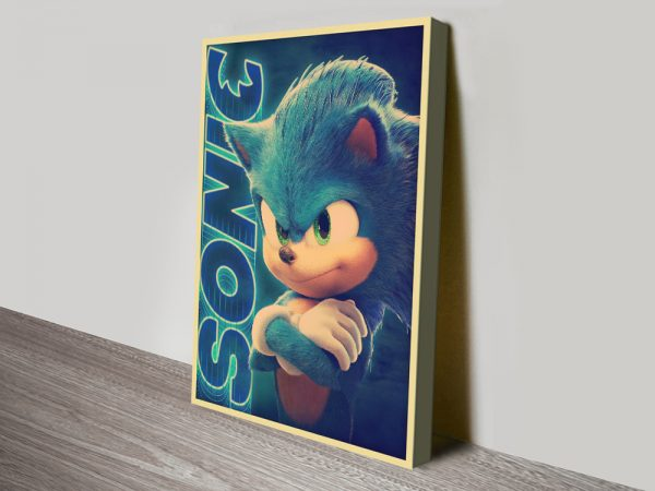 Retro Sonic the Hedgehog Poster on Canvas