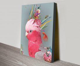 Abstract Galah Cute Cockatoo Wall Art