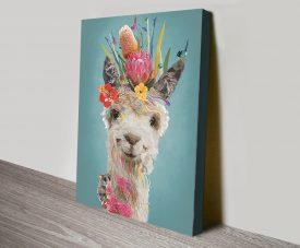 Abstract Llama Colourful Canvas Art