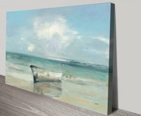 Ashore Print on Canvas by Julia Purinton