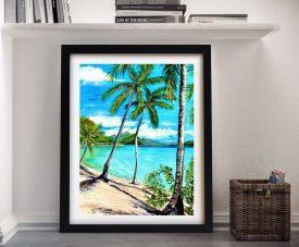 Beach Whitsunday Islands Print on Canvas