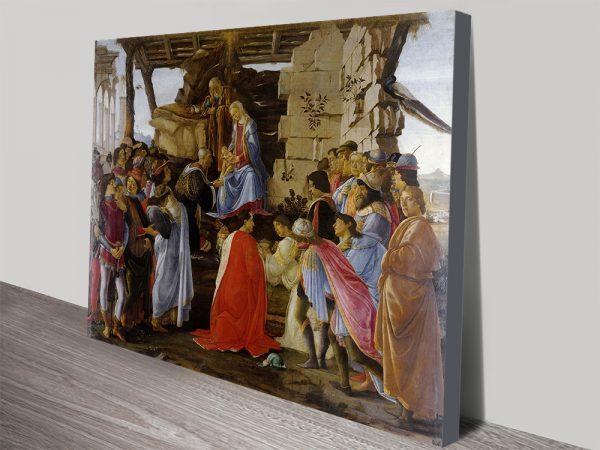 Botticelli Adoration of the Magi Classic Artwork