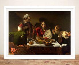 Supper at Emmaus Framed Caravaggio Print