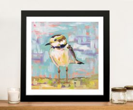 Buy a Framed Coastal Plover Canvas Print