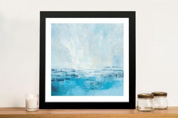 Framed Abstract Coastal Scene on Canvas