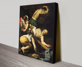 Crucifixion of Saint Peter Classic Print on Canvas